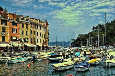 Photograph - Portofino Harbor by Allen Beatty