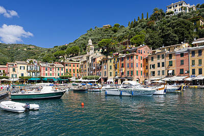 Portofino Harbour Photograph - Portofino Harbour by Sebastian Wasek