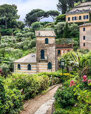 Portofino Fine Art Photograph - Portofino Hillside Church by Ken Nelson