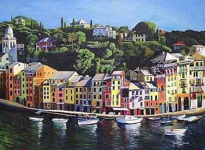 Portofino Italy Painting - Portofino by James Scrivano