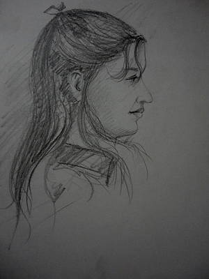 Drawing - Portrait by Hihani Gautam