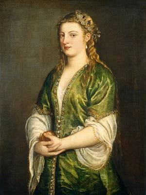 Portrait Of A Lady Art Print by Titian