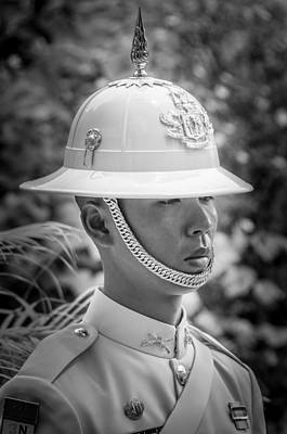 Er Photograph - Portrait Of A Soldier Of The Royal Guard - Grand Palace Bangkok  by Colin Utz