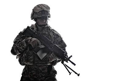 Photograph - Portrait Of A U.s. Armed Forces Soldier by Oleg Zabielin