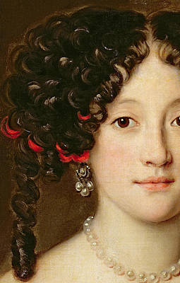Curly Hair Painting - Portrait Of A Woman by Jacob Ferdinand Voet