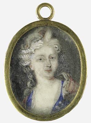 Charlotte Drawing - Portrait Of A Woman, Presumably Christiane Charlotte by Litz Collection
