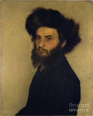 Isidor Kaufmann Painting - Portrait Of A Young Jewish Man by Celestial Images