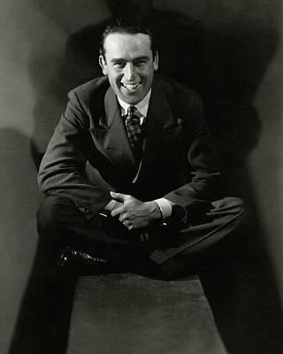 Cross Legged Photograph - Portrait Of Actor Harold Lloyd by Edward Steichen