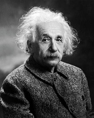 Photograph - Portrait Of Albert Einstein by Underwood Archives
