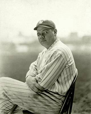 Portrait Of Babe Ruth Print by Arnold Genthe