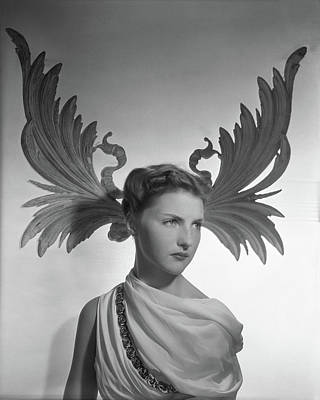 Updo Photograph - Portrait Of Cynthia Boissevain by Horst P. Horst