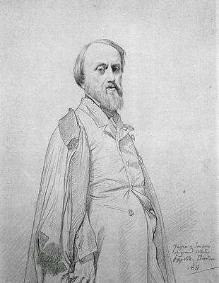 Portrait Of Hippolyte Flandrin Art Print