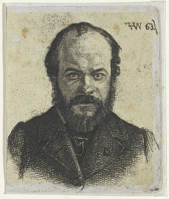 Self-portrait Drawing - Portrait Of Jan Weissenbruch, Frederik Hendrik Weissenbruch by Frederik Hendrik Weissenbruch