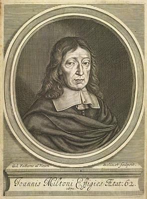 Portrait Of John Milton. Art Print