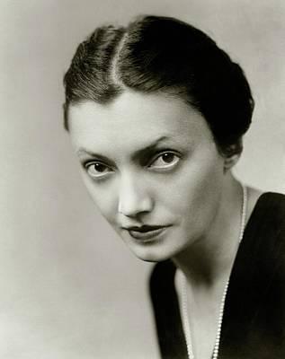 Portrait Of Katharine Cornell Art Print by Florence Vandamm