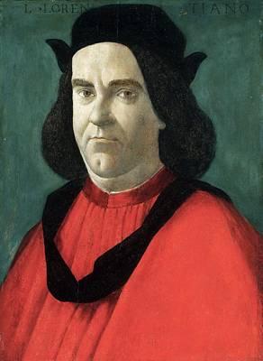 Portrait Of Lorenzo Di Ser Piero Lorenzi Art Print by Sandro Botticelli