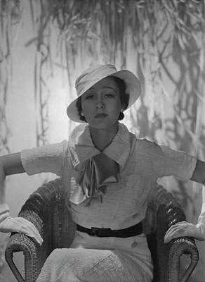 Photograph - Portrait Of Mlle. Koopman by George Hoyningen-Huene