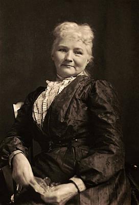 Photograph - Portrait Of Mother Jones by Underwood Archives