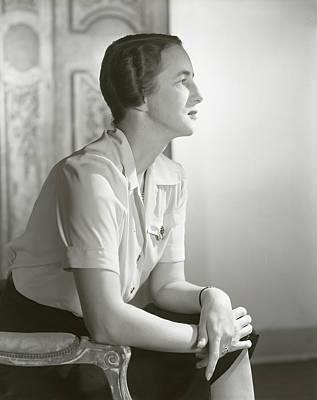 Woman Head Photograph - Portrait Of Mrs. Stevens Baird by Horst P. Horst