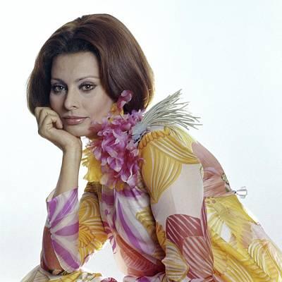 Portrait Of Sophia Loren Art Print by Henry Clarke