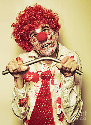 Photograph - Possessed Horror Clown With Supernatural Strength by Jorgo Photography - Wall Art Gallery