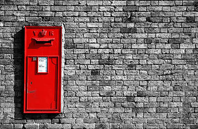 Mail Box Photograph - Post Box by Mark Rogan
