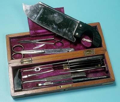Post-mortem Instruments Print by Science Photo Library