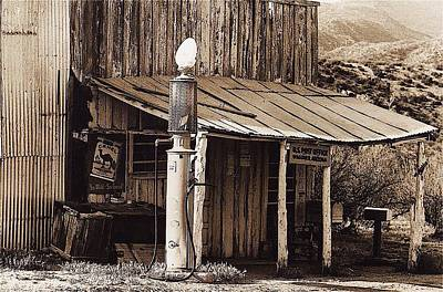 Steampunk - Post Office-gas Station Ghost Town Wagoner Arizona 1968 by David Lee Guss