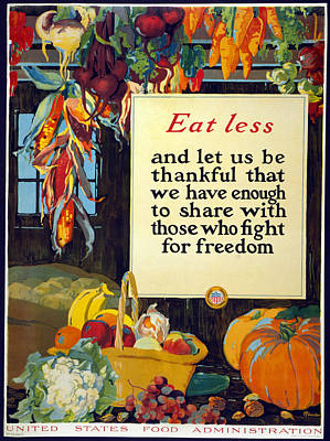 American Food Painting - Poster Food Supply, 1918 by Granger