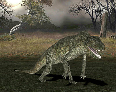 Triassic Photograph - Postosuchus Dinosaur by Friedrich Saurer