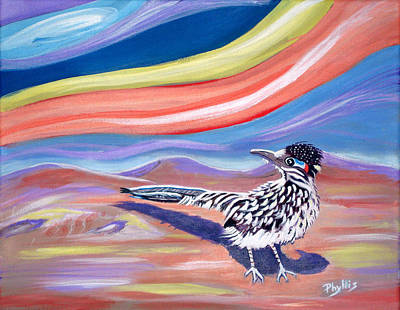 Painting - Posy 2 The Roadrunner by Phyllis Kaltenbach