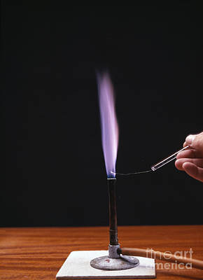 Flame Test Photograph - Potassium Flame Test by Andrew Lambert Photography