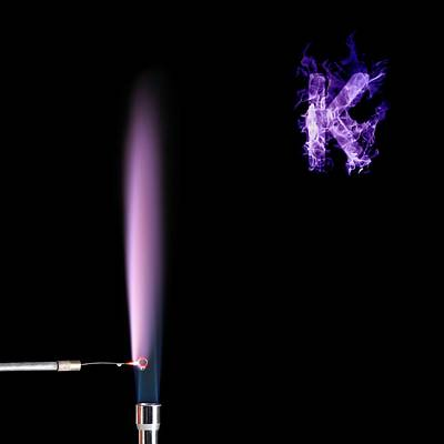 Potassium Flame Test Art Print by Science Photo Library