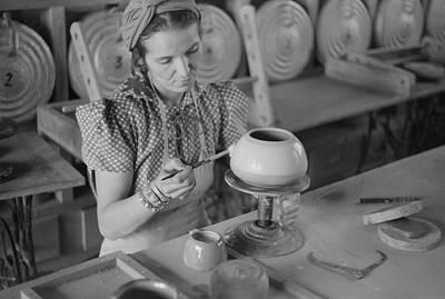 Pottery Making, 1940 Art Print by Granger