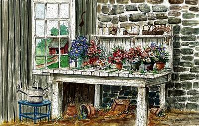 Potting Painting - Potting Bench by Steven Schultz