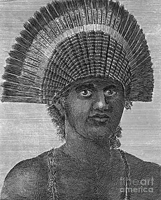 Tongan Photograph - Poulaho, King Of Tonga, Artwork by Chris Hellier