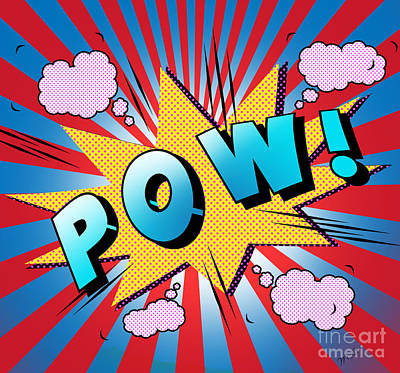 Emotive Digital Art - pow by Mark Ashkenazi