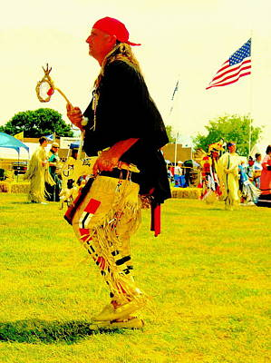 Photograph - Pow Wow Dancer by Johanna Elik