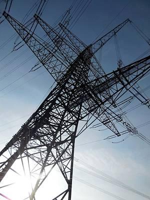 Electric Pylon Photograph - Power Lines by Detlev Van Ravenswaay