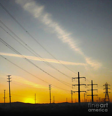 Photograph - Power Lines by Gregory Dyer