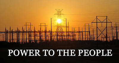 Commercial Art Photograph - Power To The People  by David Lee Thompson