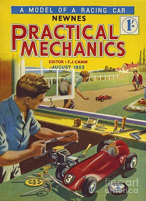 Drawing - Practical Mechanics 1953 1950s Uk by The Advertising Archives