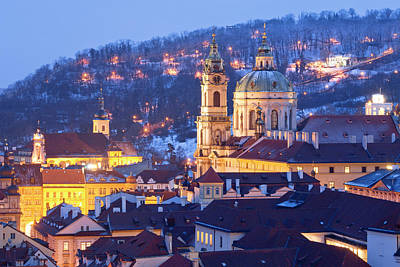 Prague Towers Photograph - Prague - St. Nicolas Church by Panoramic Images