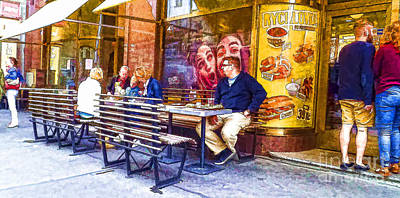 Prague Photograph - Prague Street by Justyna JBJart
