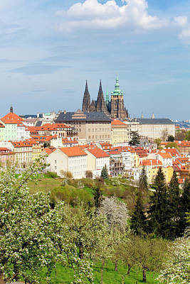 Prague Photograph - Prague - View Of Hradcany Castle by Panoramic Images