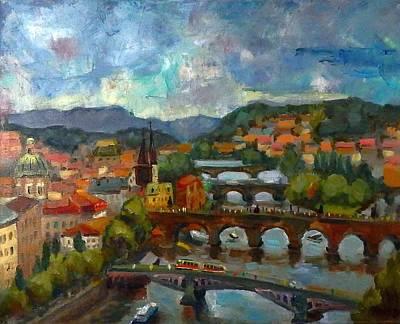 Praha Painting - Praha by Nina Silaeva