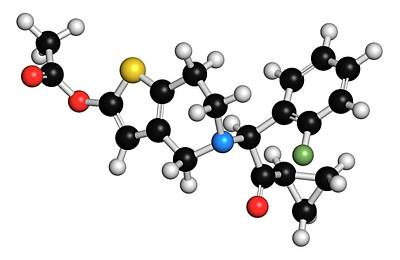 Prasugrel Platelet Inhibitor Drug Print by Molekuul