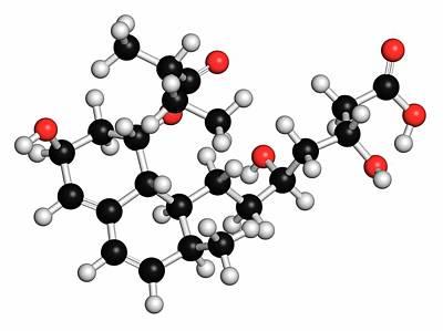 Pravastatin Cholesterol Lowering Drug Art Print by Molekuul