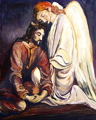 Painting - Agony In The Garden by Frank Botello