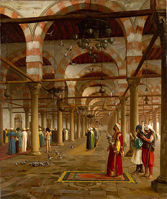 Jean-leon Gerome Painting - Prayer In The Mosque by Jean-Leon Gerome